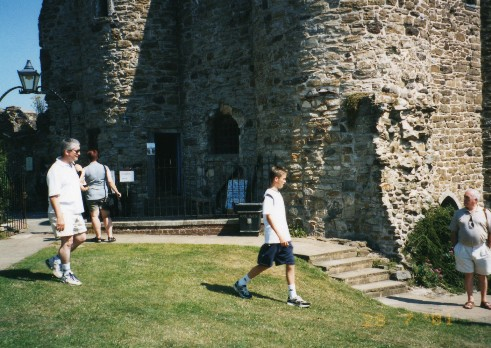 Simon and Sean outside Ypres Castle