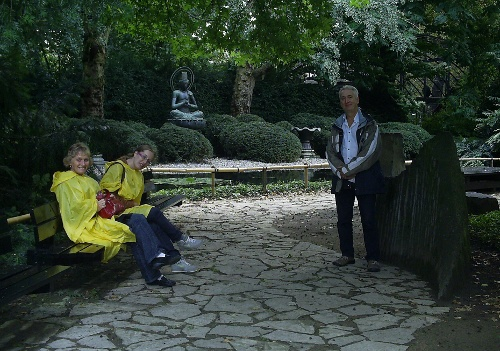 Aha .... our intrepid explorers have discovered the Japanese Stone Garden.