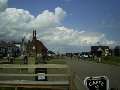 Aldeburgh - the Moot Hall - with Sizewell nuclear power station in the background
