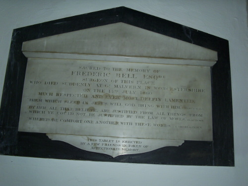 Aldeburgh - memorial tablet to Frederic Bell