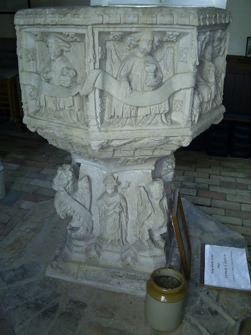 Snape - the font in the St John the Baptist church
