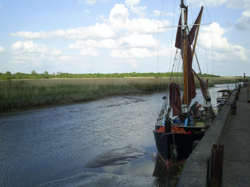 Snape - boats at the Maltings