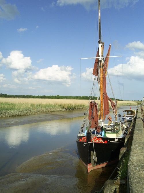 Snape -Boats at the Maltings