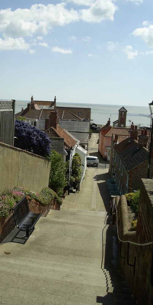 Sea view from Aldeborough town steps
