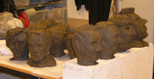 Karla and Frans ... moulded from common clay (ain't we all?)