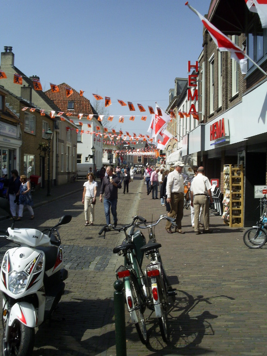Street with flags