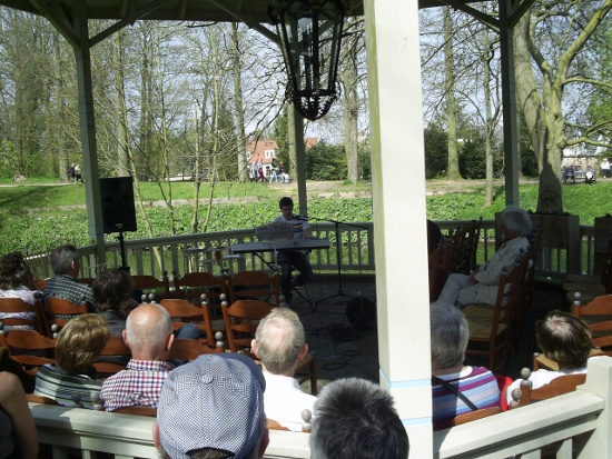 A gig going on in the bandstand