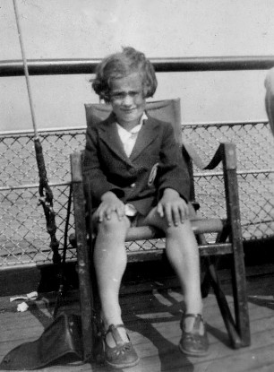 Mother as a little girl on a seat