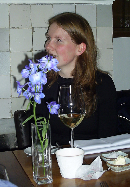 Marjn is so hungry she starts eating the flowers