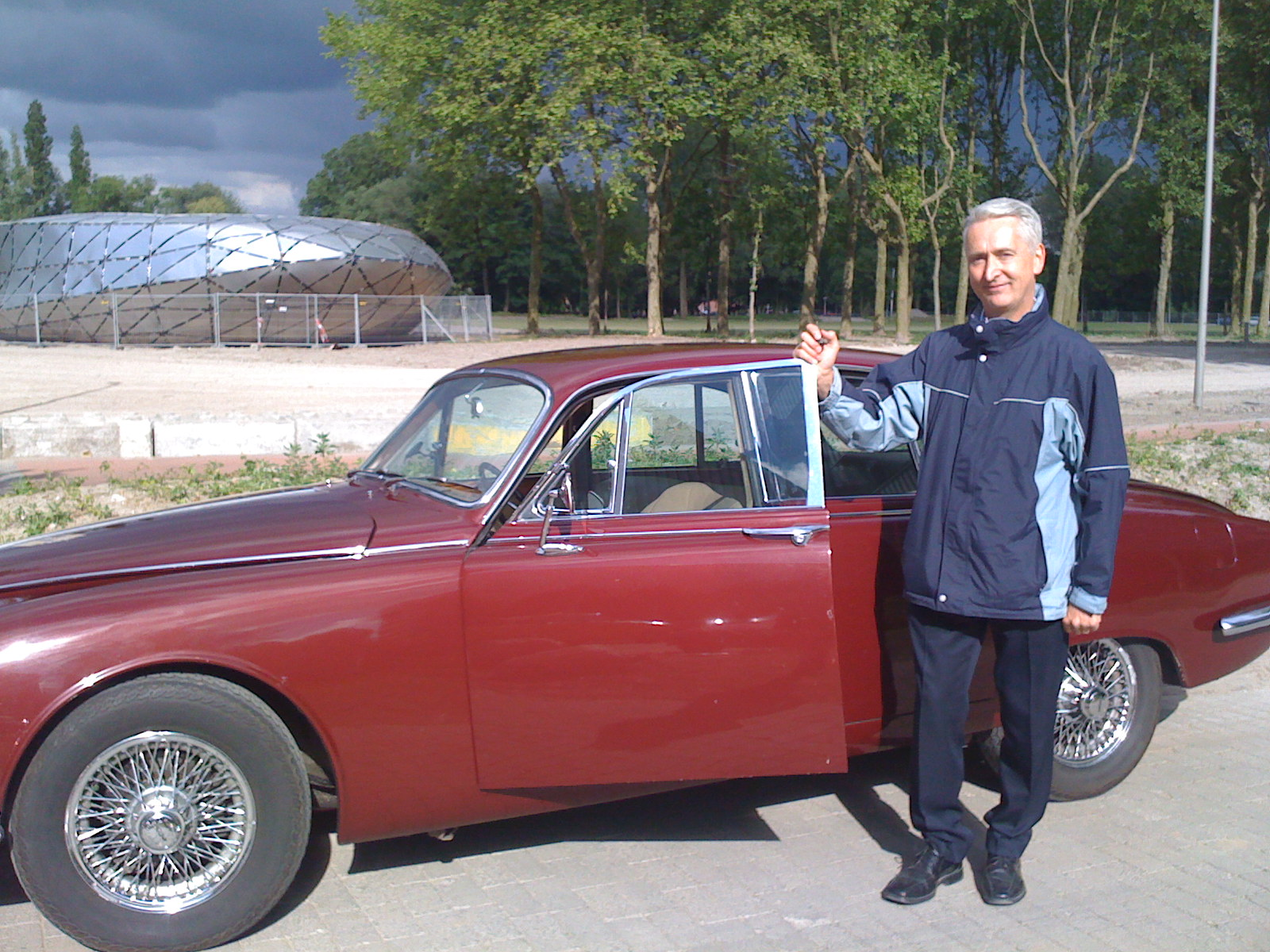 Nigel with a classic Jag